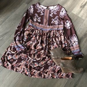 Knox Rose Paisley Boho Dress Sz S *NWT*
